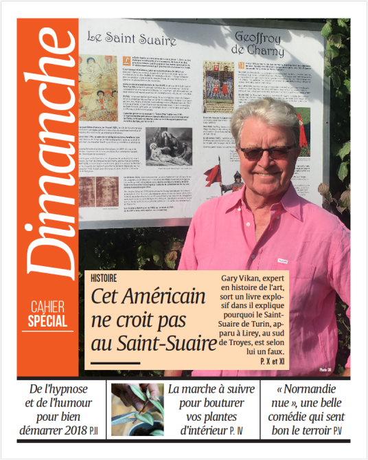 "Headline from France: ""This American Does Not Believe in the Shroud"""
