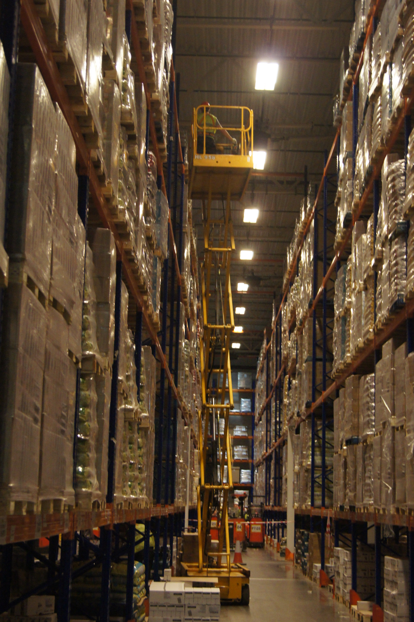 Stock Take or Physical Inventory traditionally done using forklifts