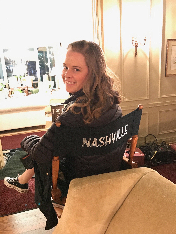 On set of  ABC/CMT Nashville , Season 5, 2017.
