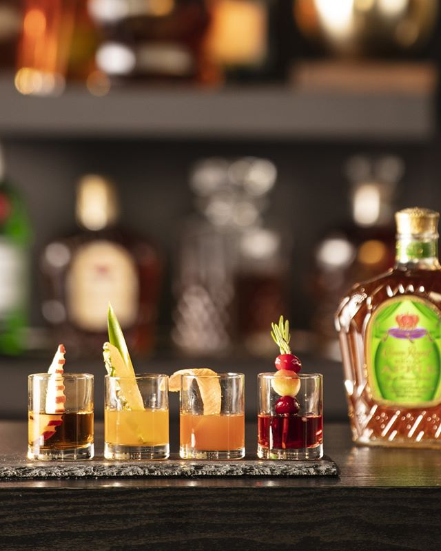 We're big fans of individuality. ⠀ ⠀ Crown Royal Regal Apple Shots Flight⠀ 1.5 oz. Crown Royal Regal Apple + Grapefruit Juice + Grapefruit Wedge⠀ 1.5 oz. Crown Royal Regal Apple + Cranberry Juice + Apple Wedge Garnish⠀ 1.5 oz. Crown Royal Regal Apple + Pineapple Juice Garnished with Pineapple Wedge⠀ 1.5 oz. Crown Royal Regal Apple