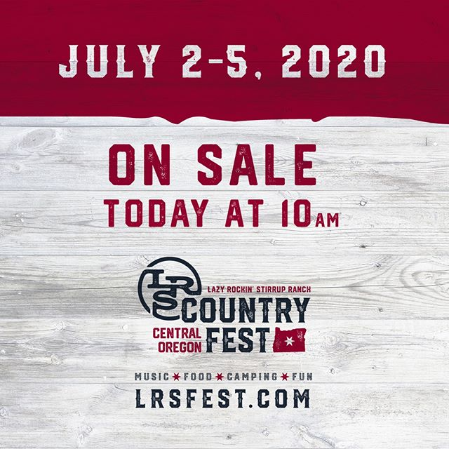 THANK YOU to EVERYONE involved in making the #LRSfest19 a success. We had a great time at the Ranch this weekend! We are excited to announce that tickets for next years event will begin pre-sale today at 10am. Seat and camping space selection will be based off of pre-sale purchase order. So get yours early! We'd like to thank all of the seed-planters who told four of their friends after the first year, and now we need the 2019 attendees to bring four of their friends next year! See you back at the Ranch!