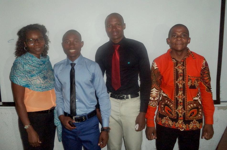 From left: Estela Cuambe, Zanildo Macungo, Albano Nhassengo and Nelson Nhamutole.