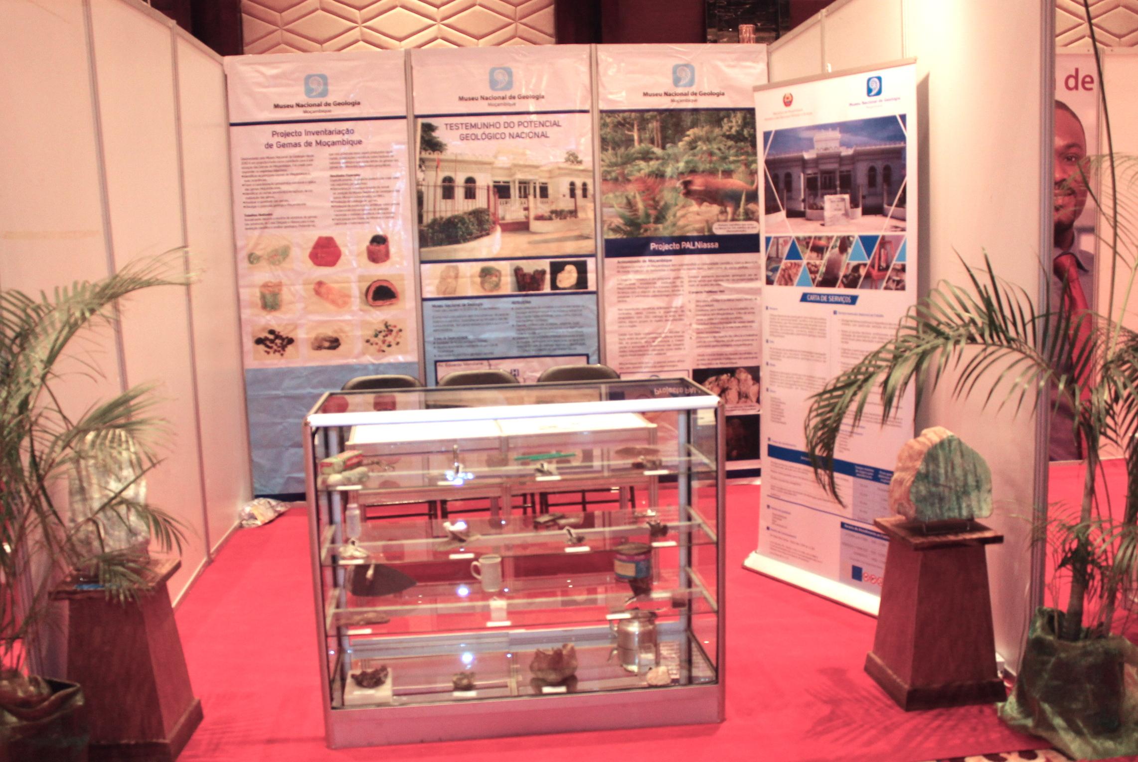 PalNiassa/Museu Nacional de Geologia stand at the EDUCA Mozambique: International Education Fair and Conference.