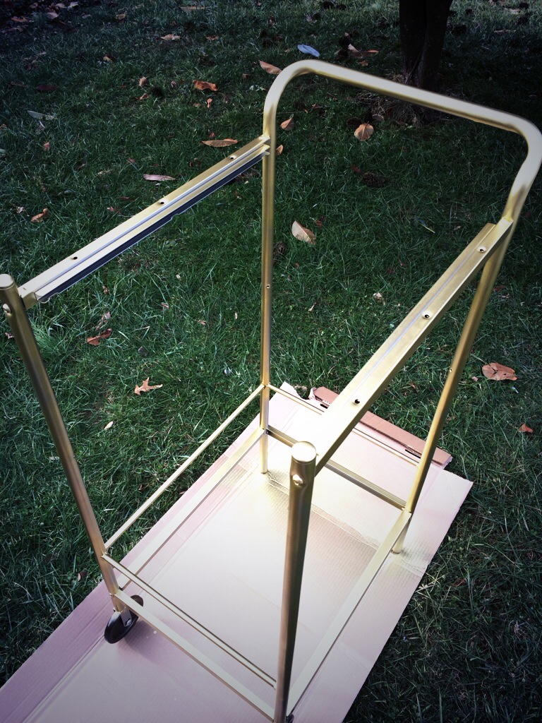 diy ikea bar cart bygel gold