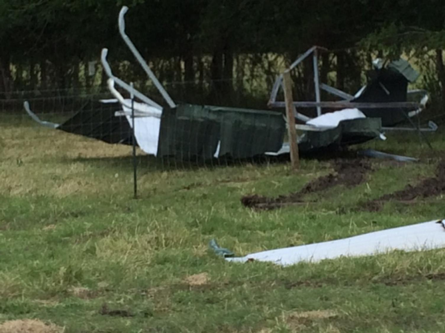 Jolie Vue Farms – Storm damage 2016.
