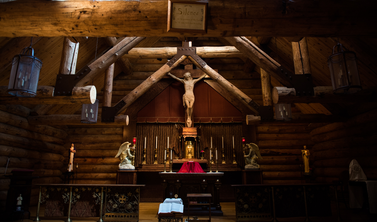 """The chapel attached to where the sisters live, there they go to pray and devote love to their lordat Children of Mary in Newark, Ohio, on September 19, 2016. Whenever someone new comes to visit they take them there directly, """"please come visit out lord,"""" they ask."""