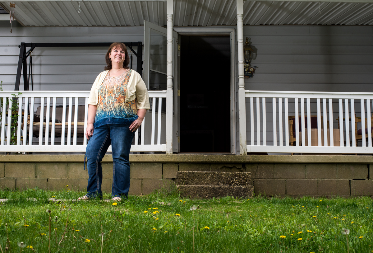 Jill Richmond, 48 - Second generation in her home and now raising her family in the same home she once grew up in.
