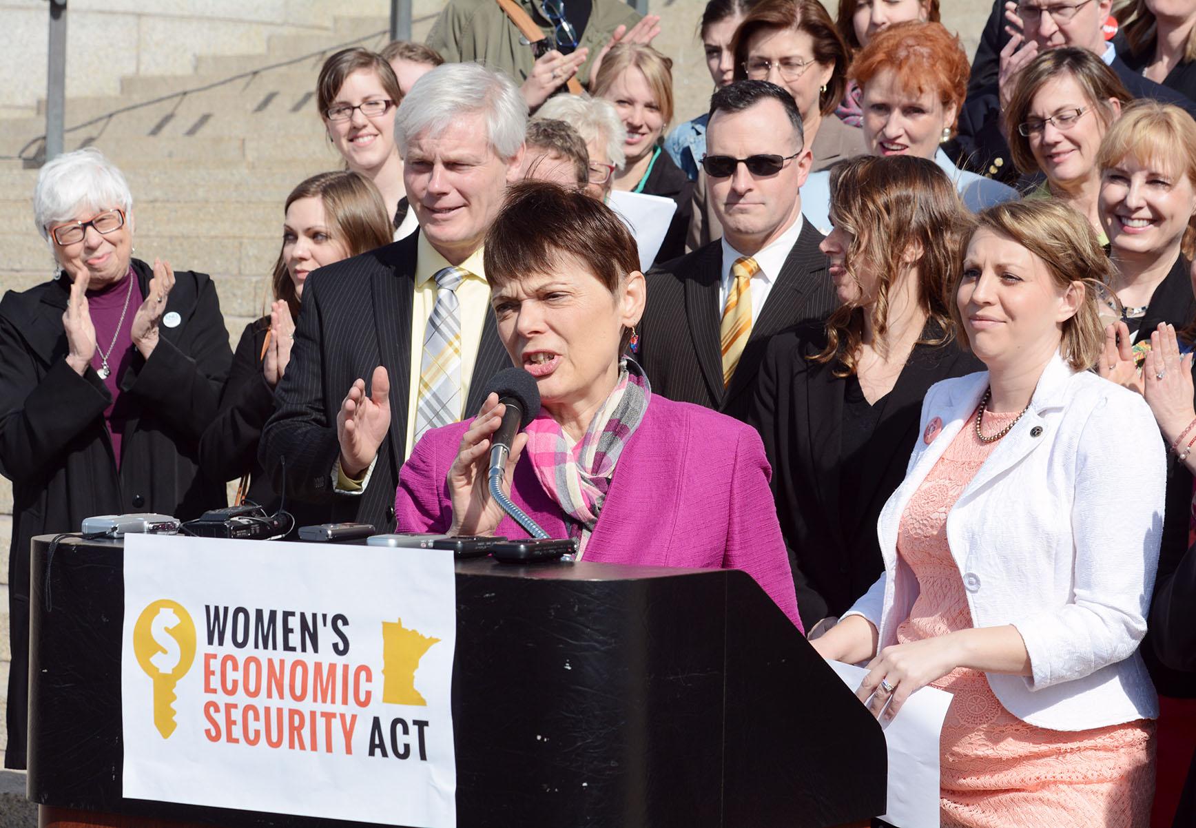 Sandy passed the landmark Women's Economic Security Act