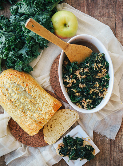 Sweet Braised Kale from  Good Life Eats