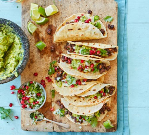 Spicy Black Bean Tacos from  BBC Good Food