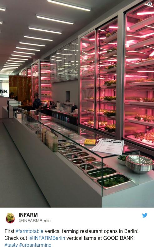 Infarm Vertical Farming Restaurant