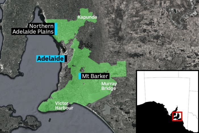 PHOTO:  The shaded areas show the Environment and Food Production Areas which restrict the development of new housing.(ABC News )