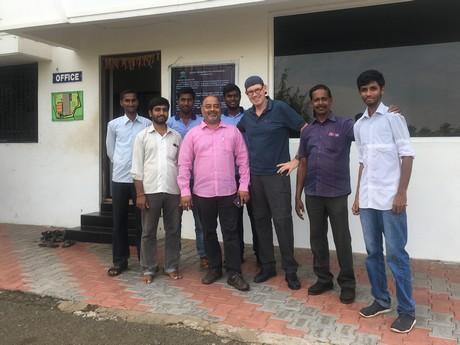 Team Fibre Dust India - Anar Coir - visited by Geerten