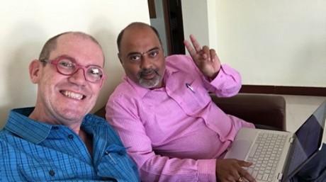 Geerten with Satheesh Rao