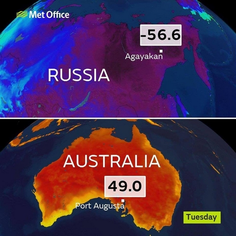 Picture: Temperatures taken on Jan 15 (source:Weather Obsessed/Jamie Lyons)