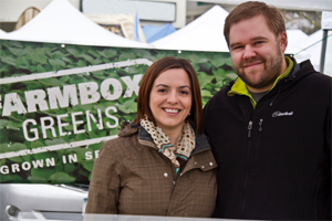 Farmbox Greens General Manager Dan Albert with his wife Lindsay Sidlauskas