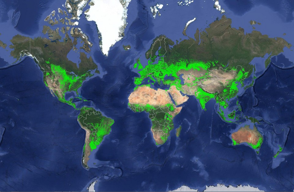 ALL OF THE AG LAND IN THE WORLD