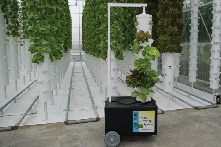 Micro Farms' Verti Tube Home Growing System
