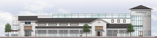 An architectural rendition of the proposed FARMacy facility in Muncie.  (Photo: Photo provided)