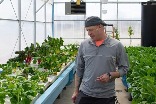Joey Sarver manages the Teen Challenge ECSIA greenhouse in Elkhart.  (Photo: Photo provided)