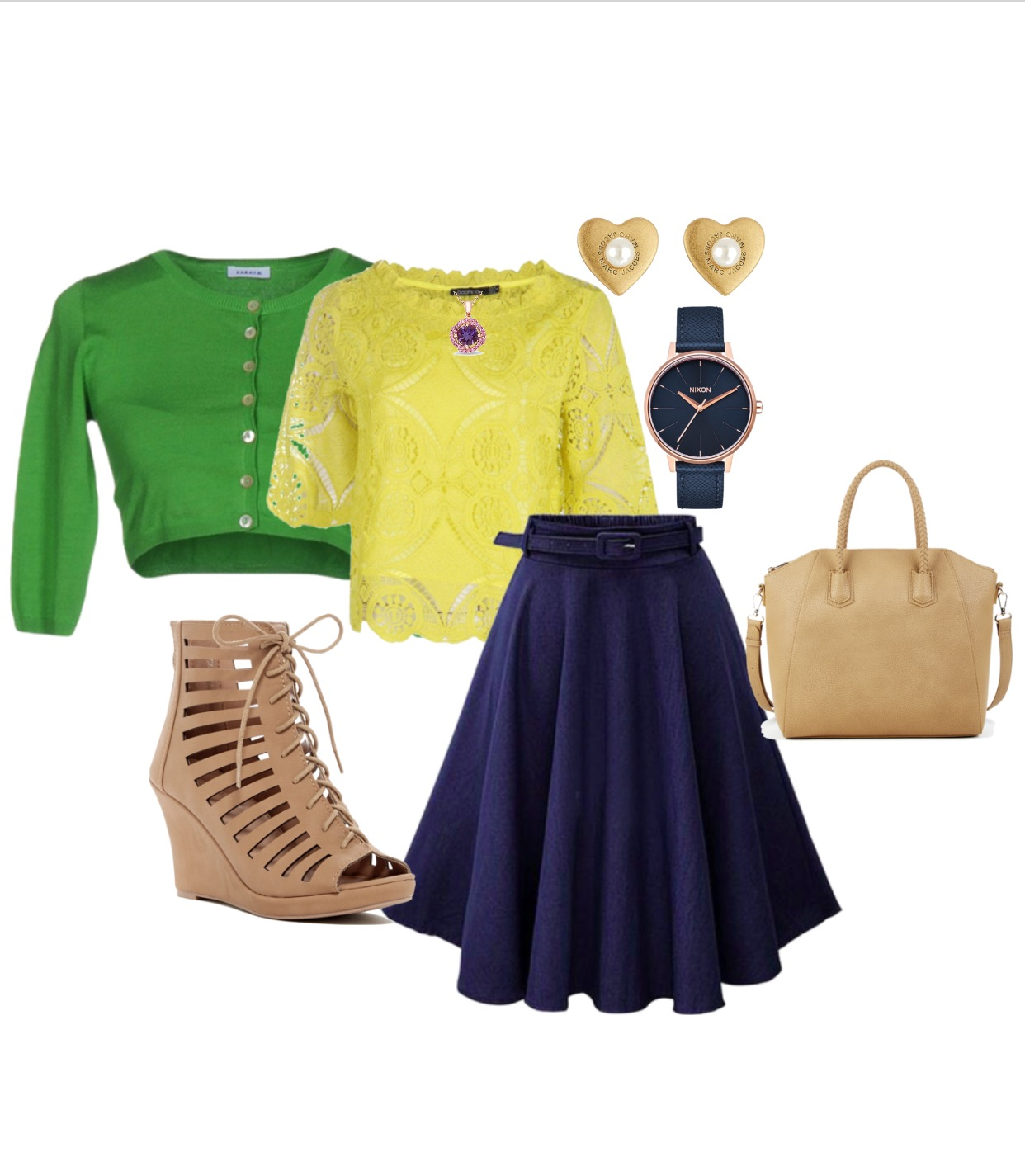 Jenny is a mother of 2 teenage girls. She loves jewelry but never wears it. Jenny explained that she has gotten use to wearing khakis and jeans everywhere. We decided to create her a transitional look one that can be worn at work, church, or on a date. We incorporated Jenny's favorite colors (blue, green, yellow, and purple) to show how to pair multiple colors tastefully.