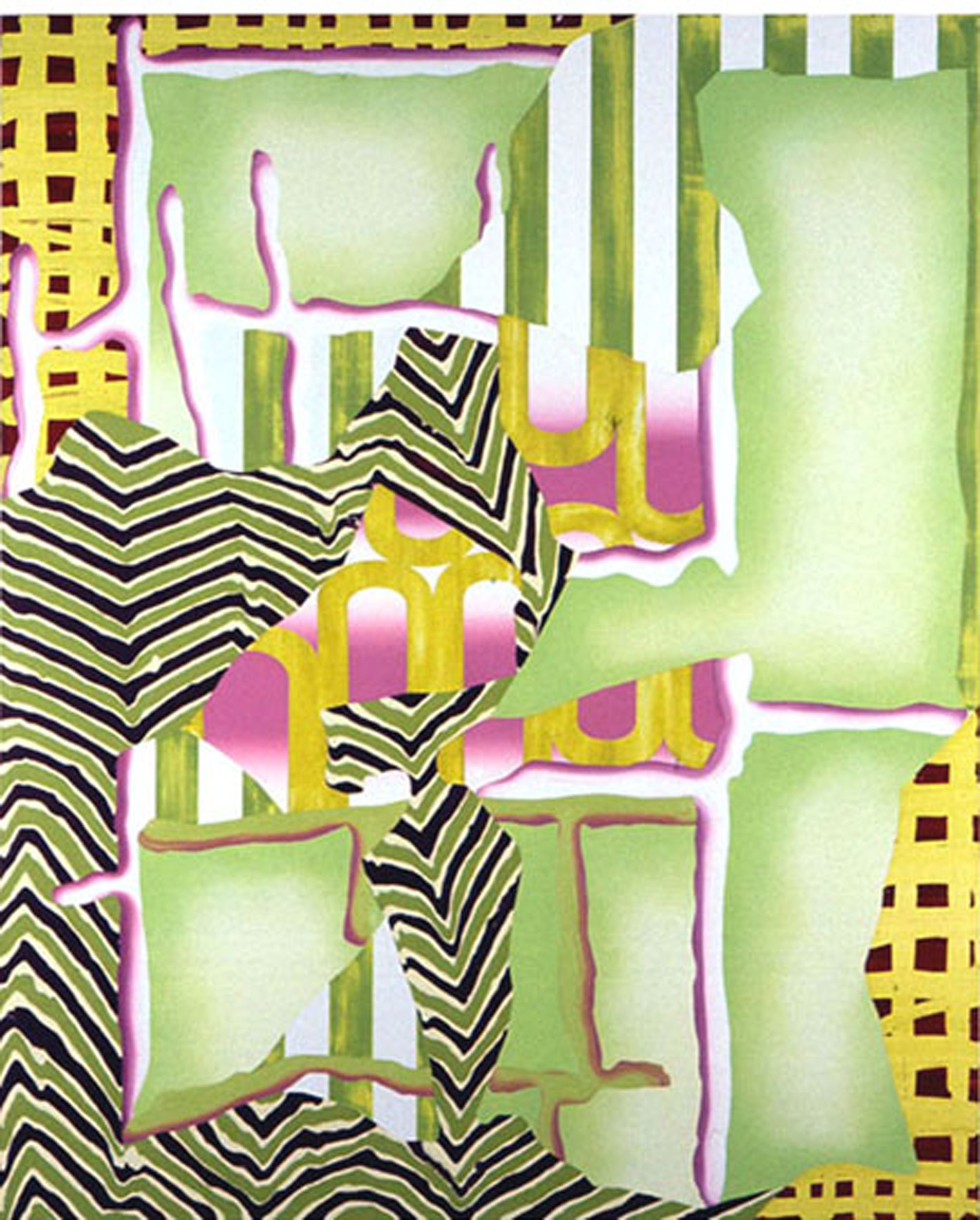 "COMPELLING ATTRACTION , 1996, Oil on linen, 76"" x 62"""