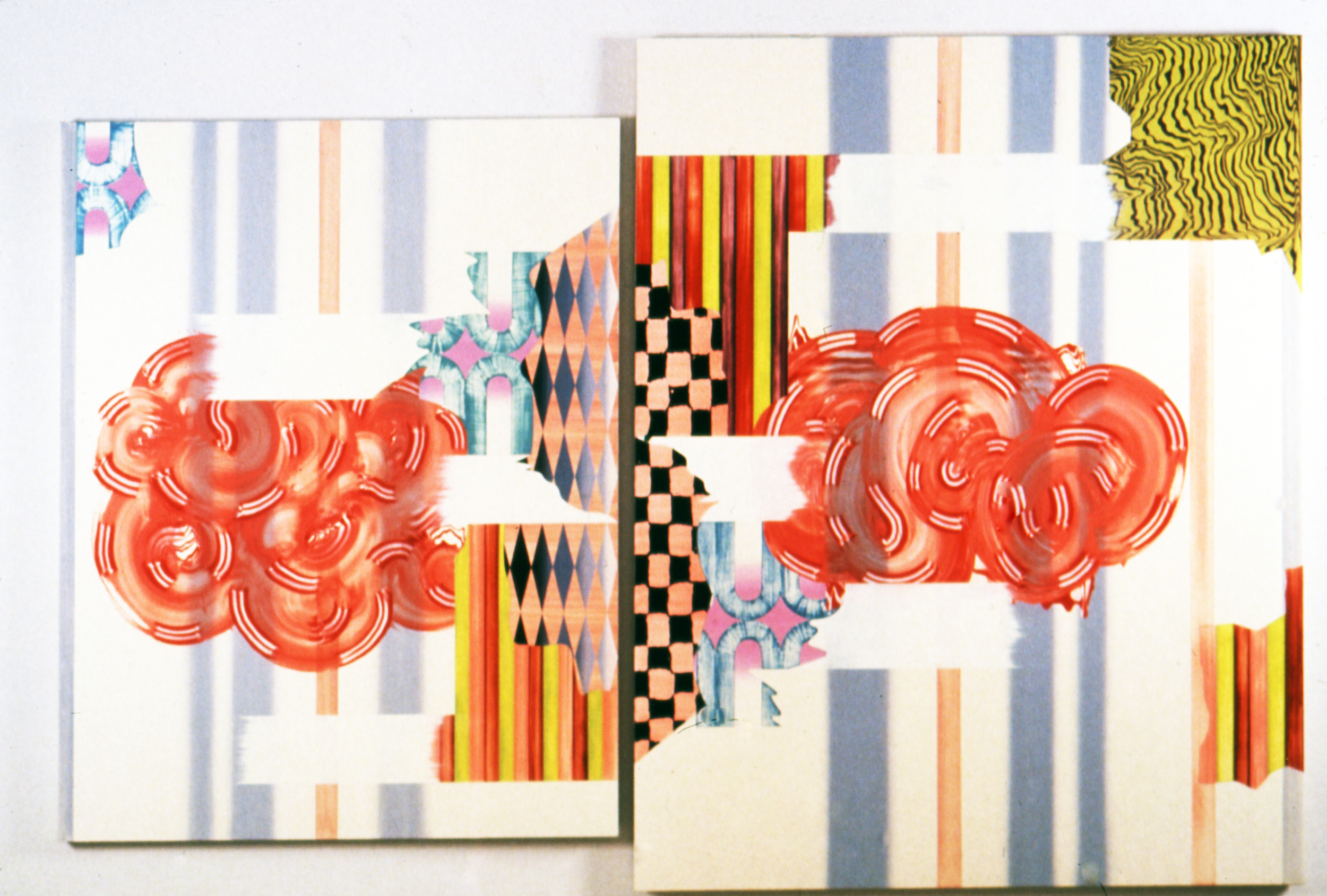 "REPRESSED RESILIENCE , 1998, Oil on linen, 62"" x 116"""
