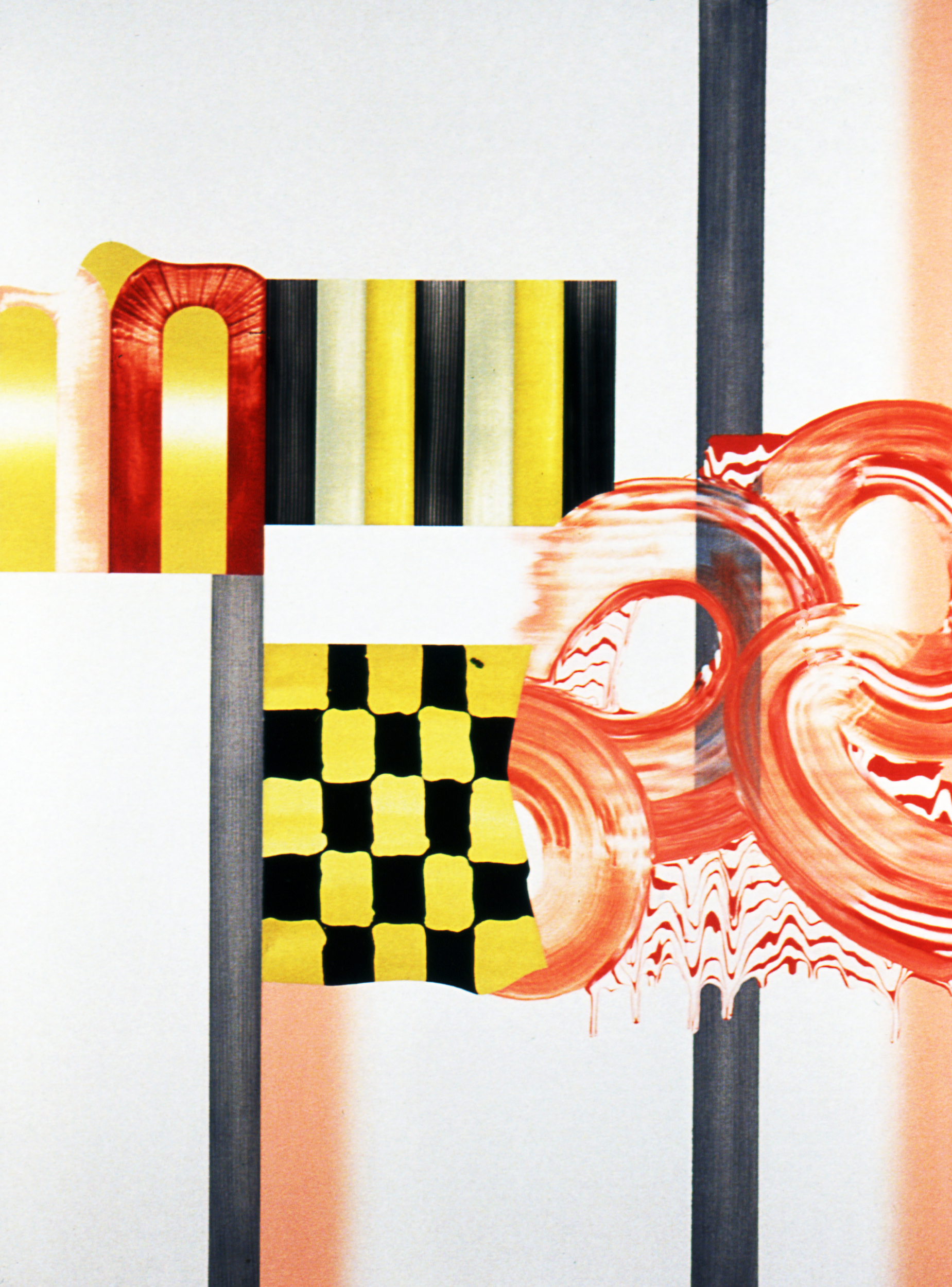 "ENDLESS DESTINATION , 1998, Oil on linen, 51"" x 37"""