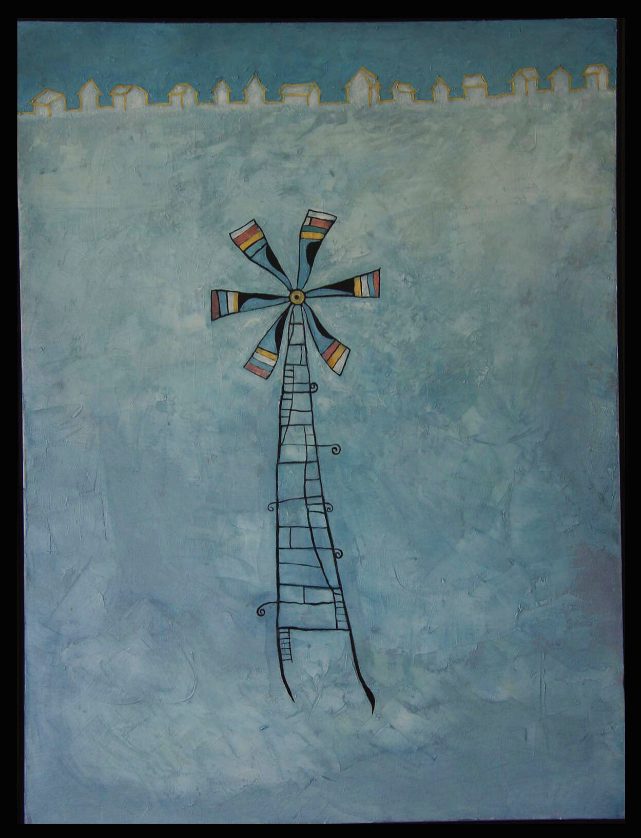 Windmill 1, Oil on Canvas, 40x30 in, Robert Hite, 2015