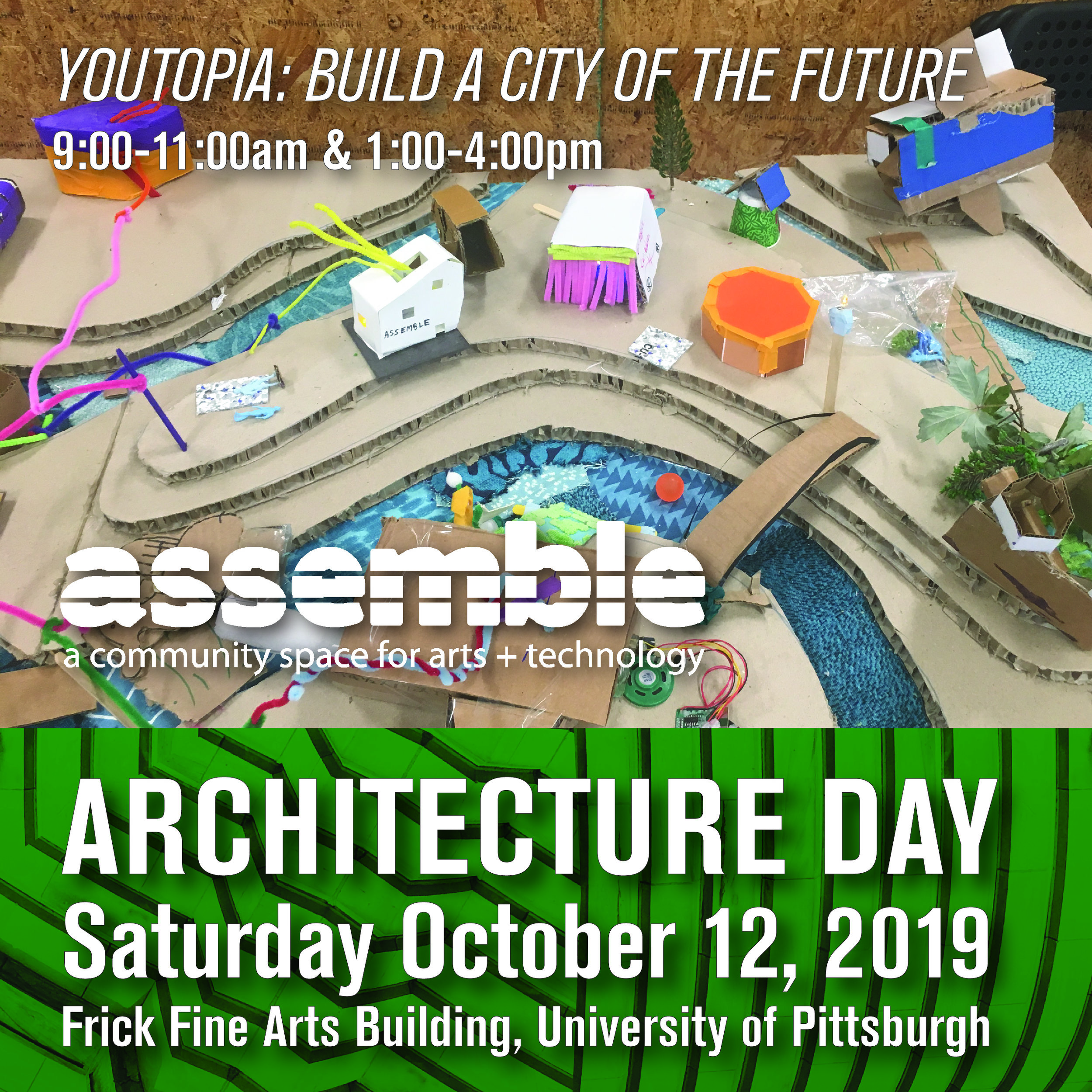 YouTopia with Assemble, 9:00-11:00am, 1:00-4:00pm