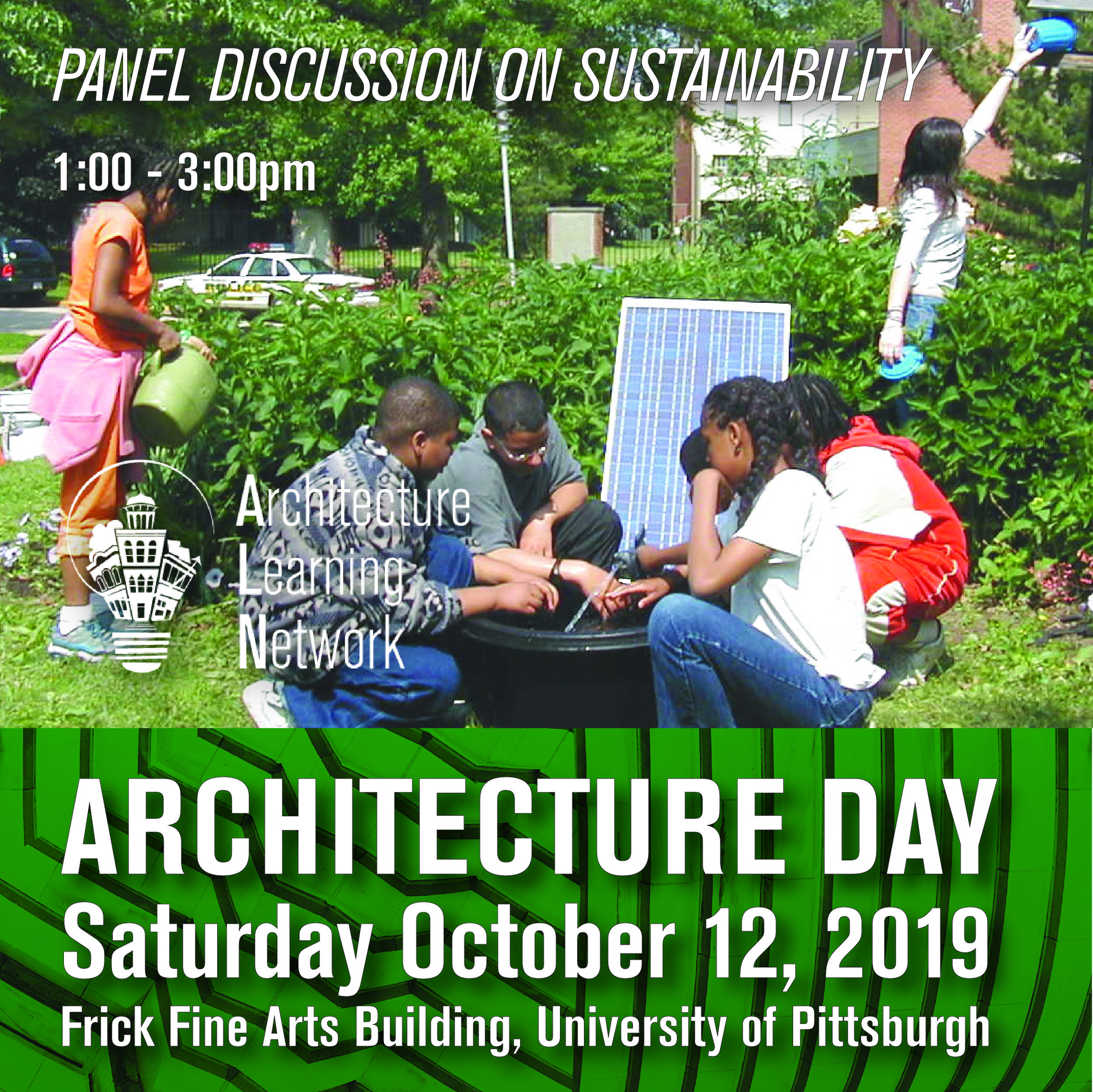 Panel Discussion with experts on sustainability in architecture, 1:00-3:00pm