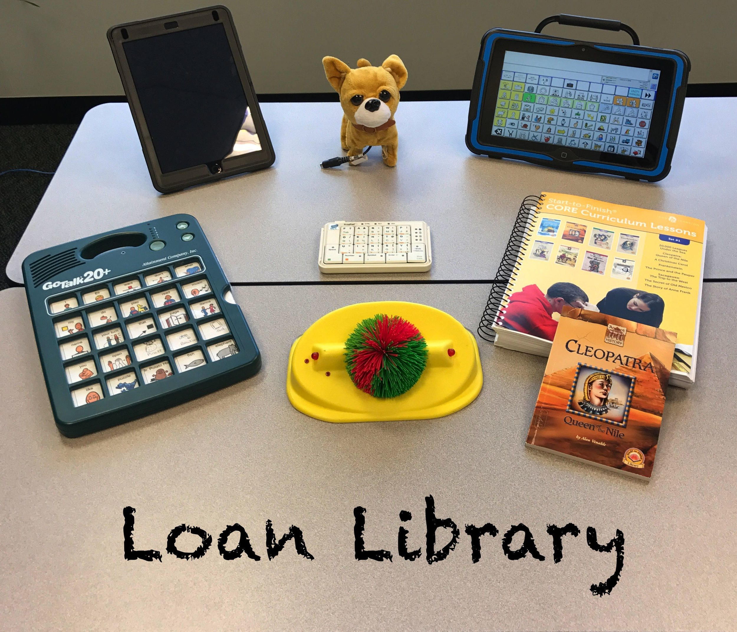 click here to learn more about the loan library