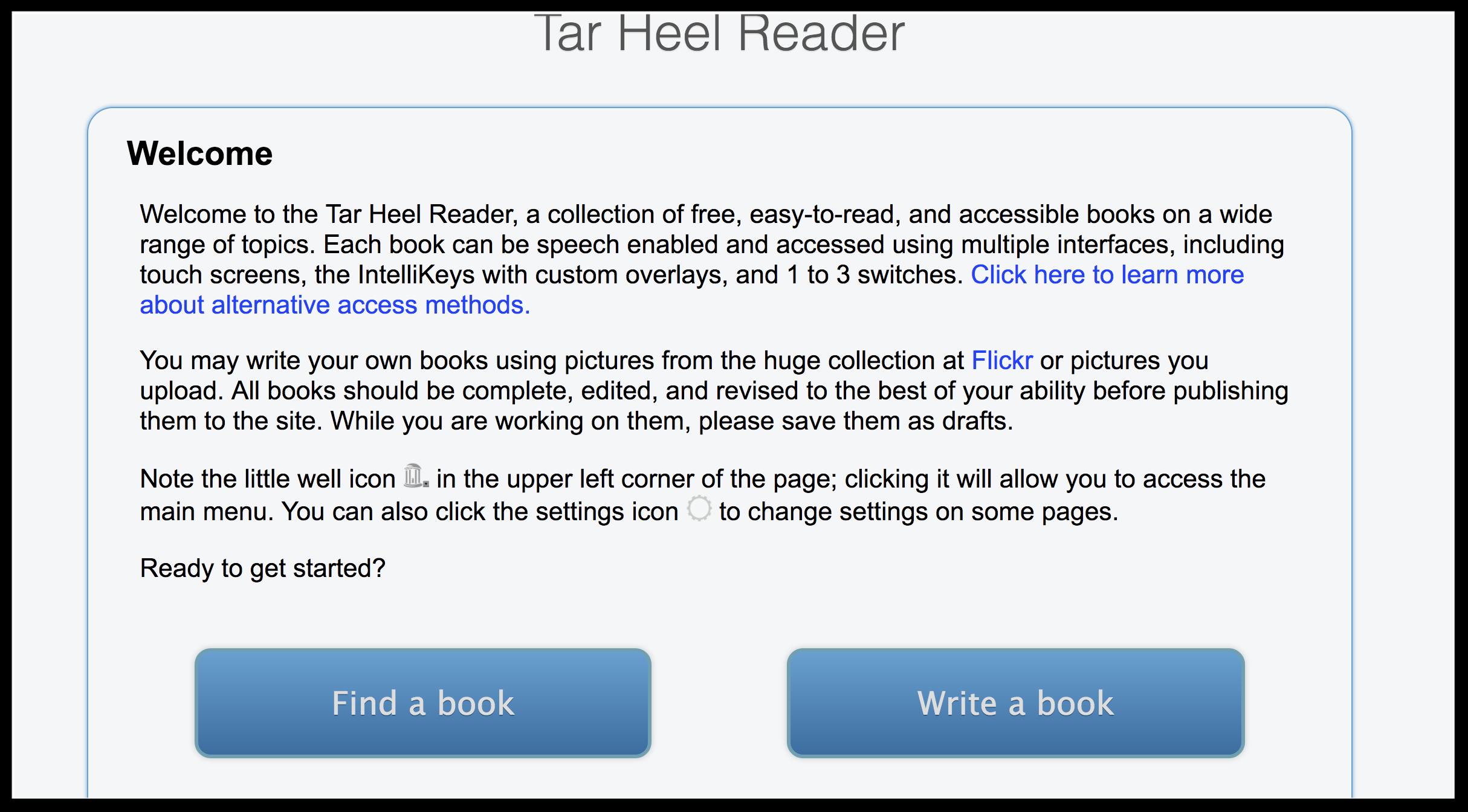 snapshot of tarheel reader