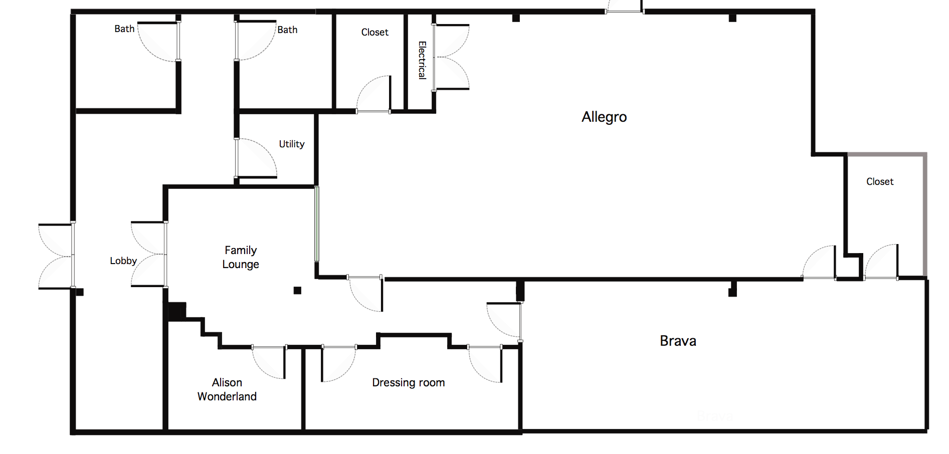 the old floor plan