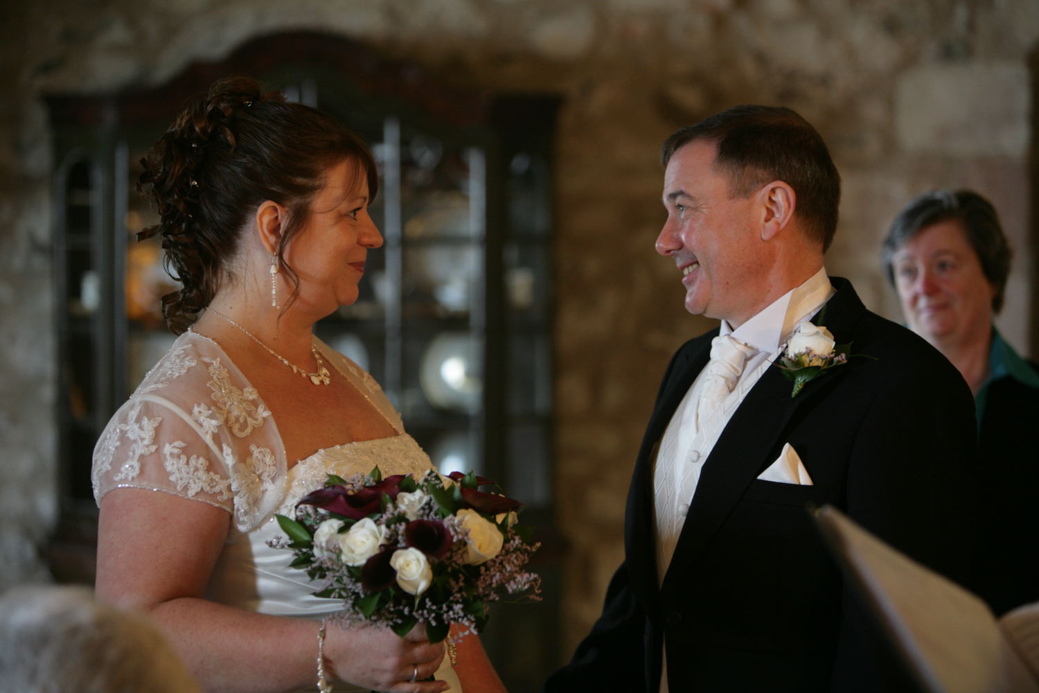 Alisa and Les, Married at Lindisfarne Castle, Holy Island