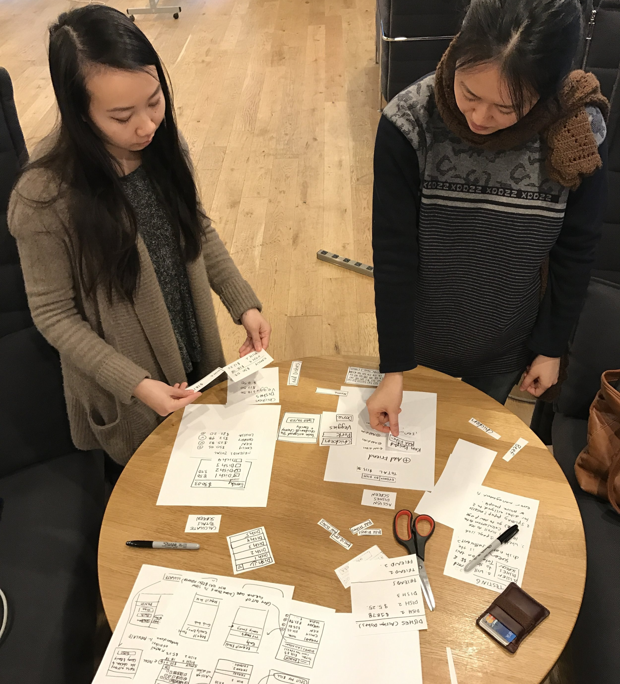 Interactive paper wireframing