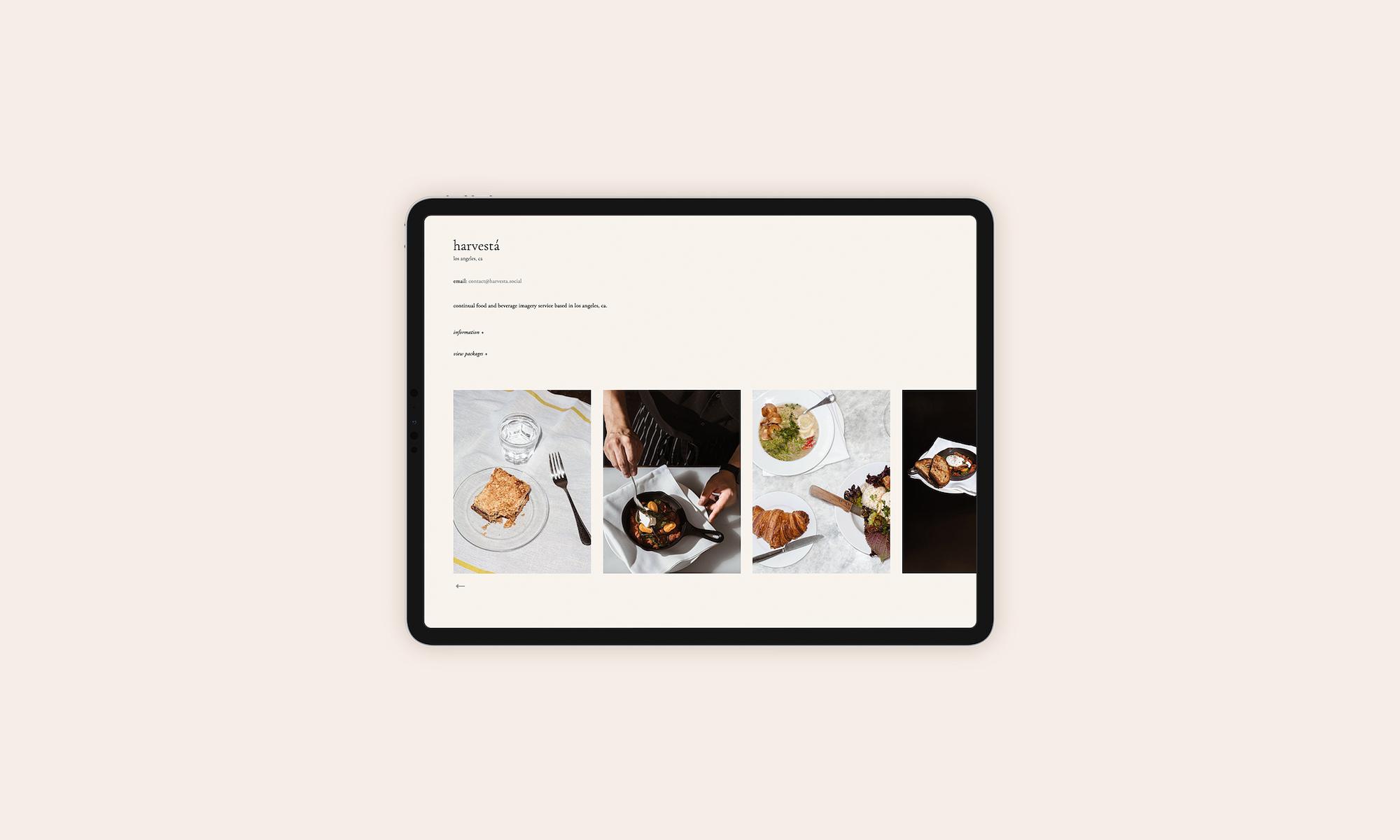 harvestá — design and development