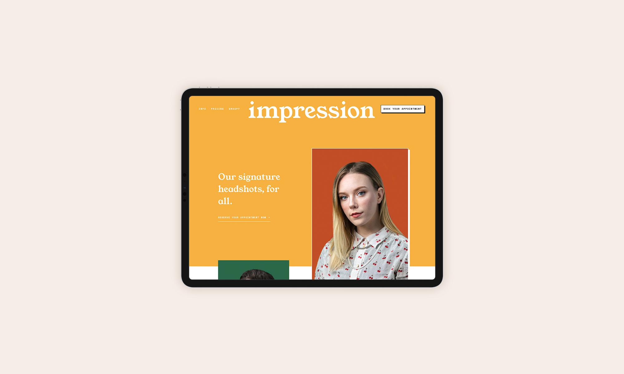 impression — design and development