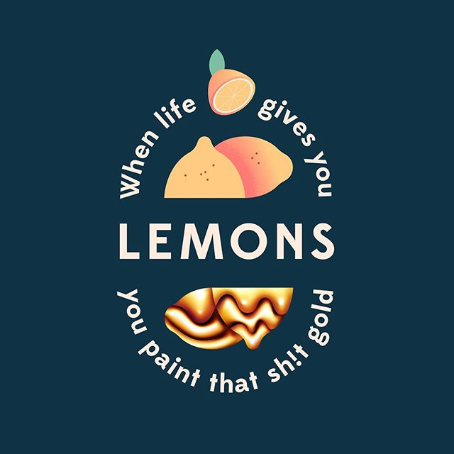 Words to live by and a classic album by @atmosphere. 'Scuse the cussin' . . . #illustration #illustrator #illustrationartists #gradient #adobe #illustratorsoninstagram #vector #vectorart #illustrationartist #graphicdesign #creative #vaniladesign #bestvector #graphicdesigncentral #visforvector #lemon #gold