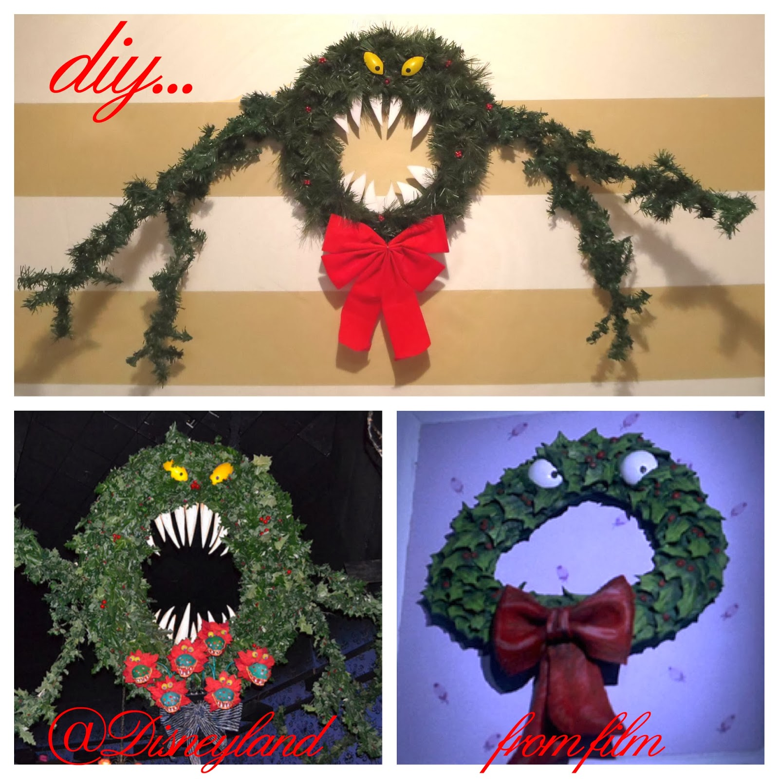 Diy Nightmare Before Christmas Monster Wreath Elizabeth Alcala