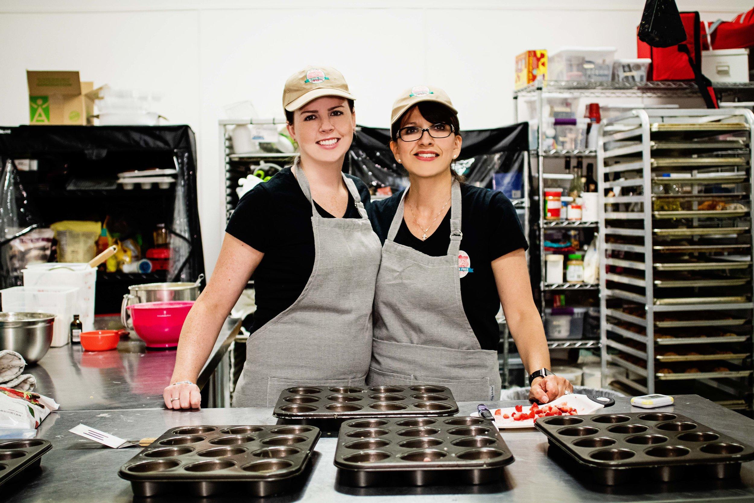Asia Karlin (left), Pamela Strelcheck (right)  Photo Credit, Samantha Behling/Northwest Quarterly