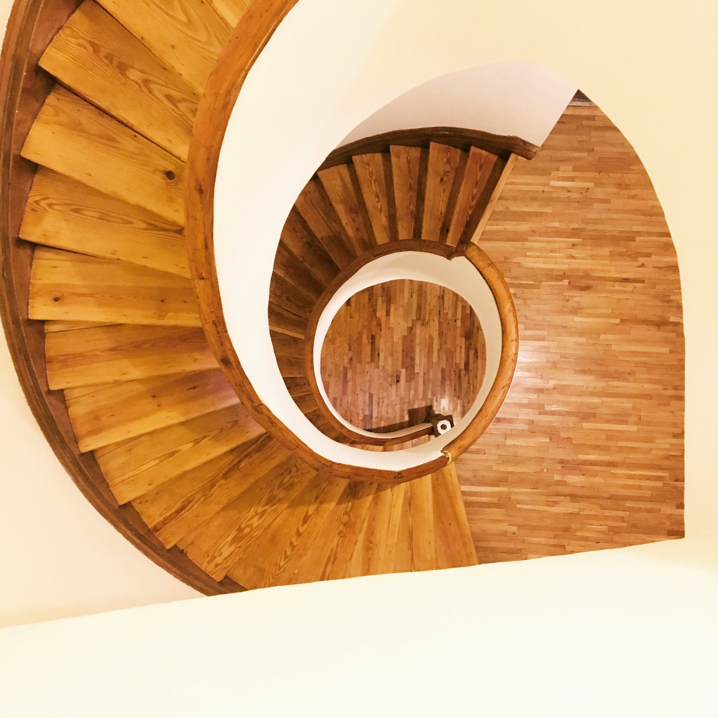 Original 1845 All Wood Spiral Staircase