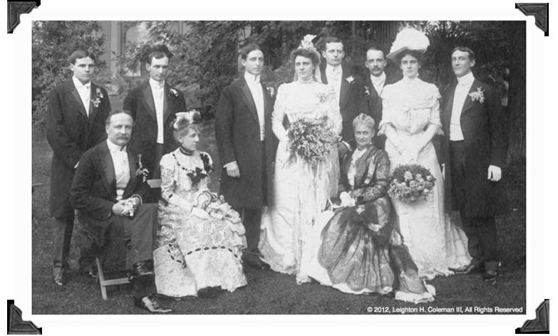 Spedden-Corning Wedding June 10th, 1900, Morristown, NJ