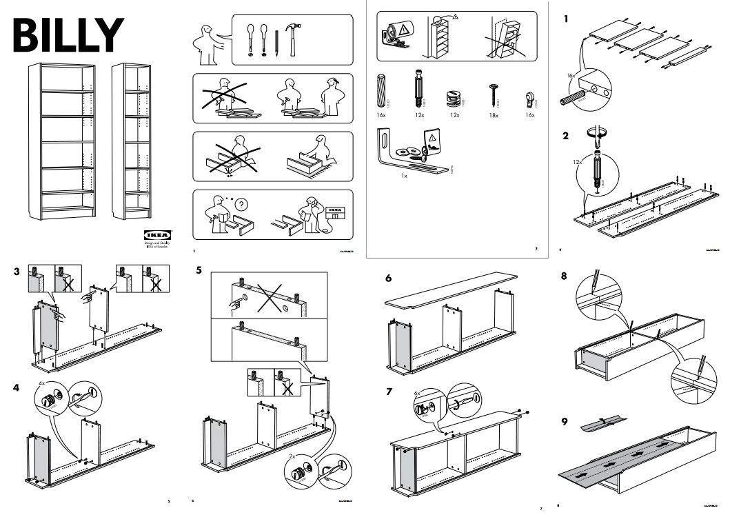 You wouldn't build Billy without a manual, would you? Photo credit: Ikea-usa.com
