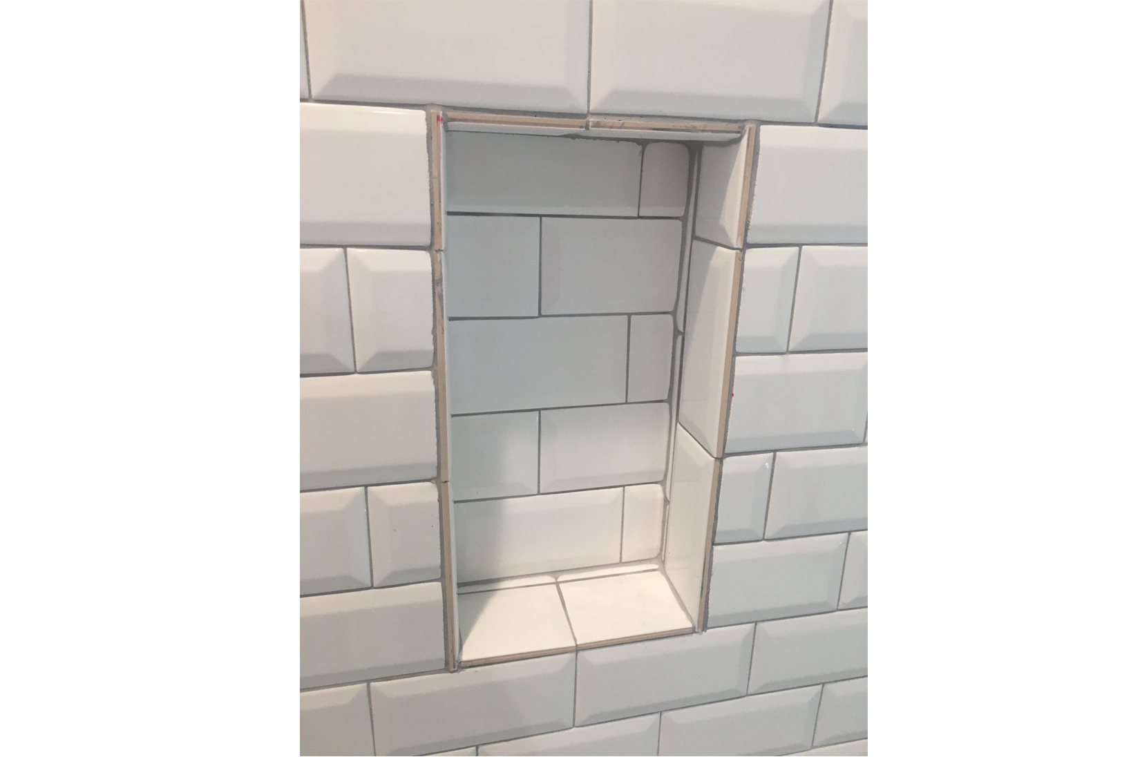 You probably didn't think about the raw edges of the tile when you were in the tile store trying to make a decision!