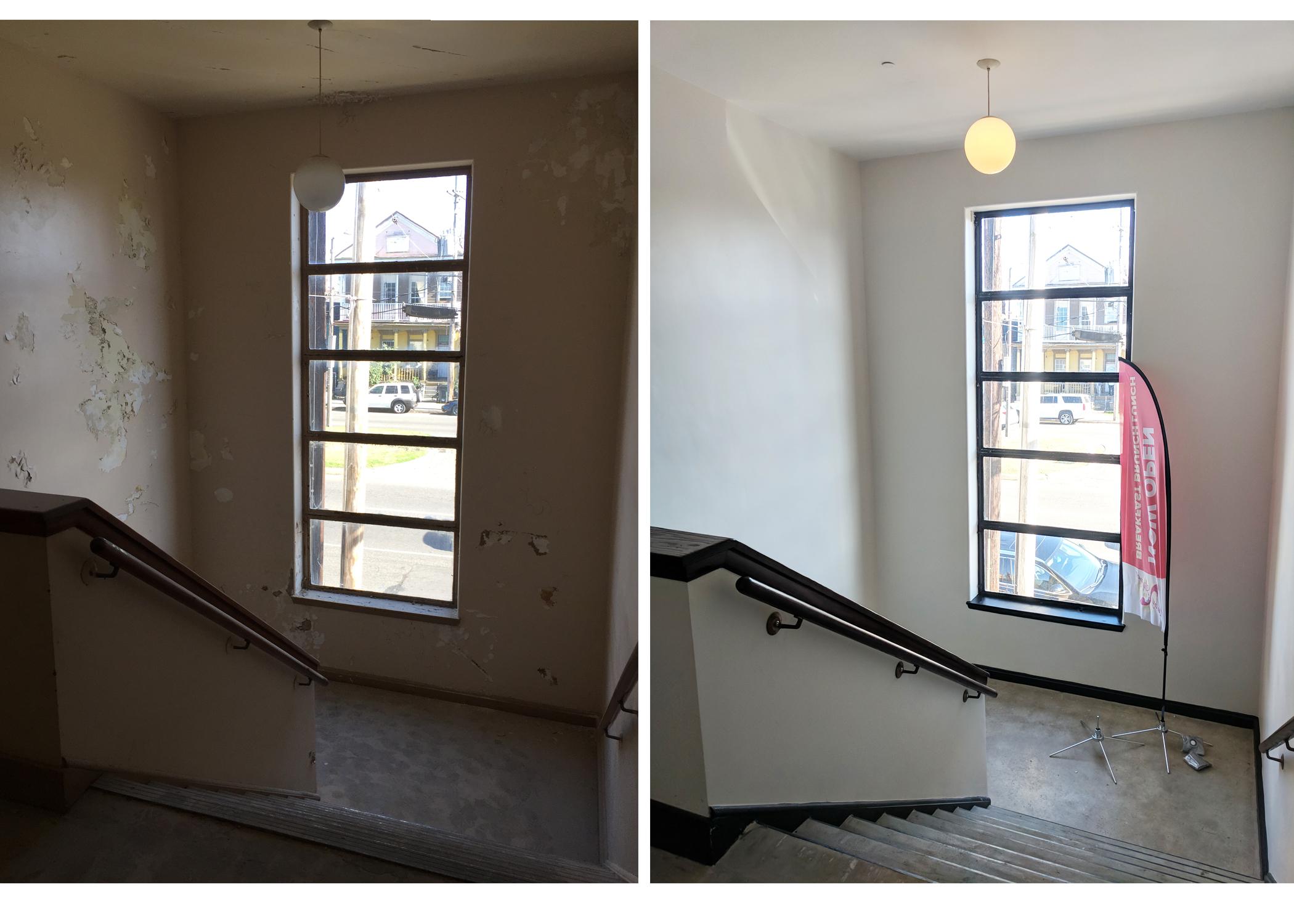 Grand stair case restored.