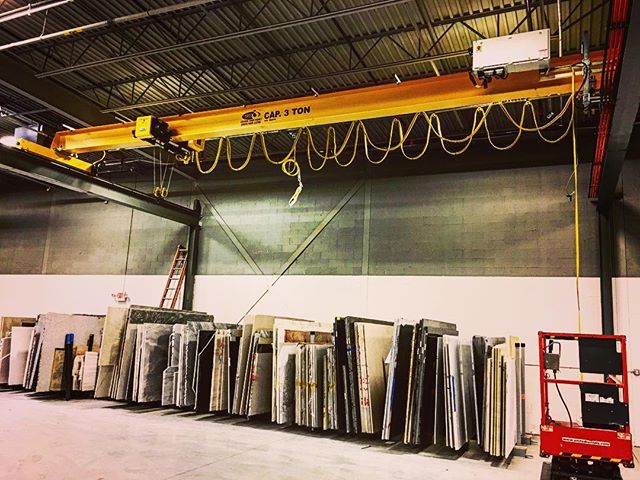 Slingin' rocks with our new crane from @spantec_systems #hardjob but someone's gotta do it.