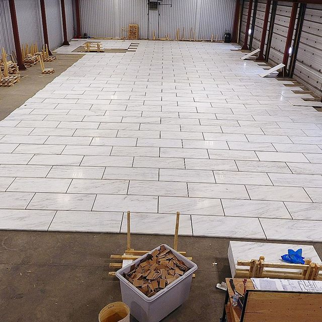 6,000 SF dry lay for one of our consulting jobs downtown where we handle the stone procurement for the owner. Only 11 dry lays left in order to completely preview and blend the entire 65,000 SF job prior to it being installed!
