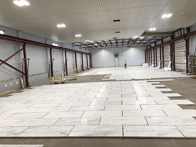 Another successful dry layout in Canada for one of our consulting projects downtown! This one is 6,300 SF, Imperial Danby marble from Vermont 👍🏼