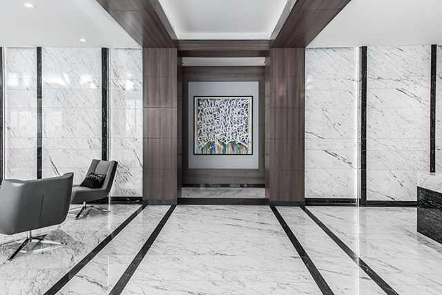 Continental and our sister consulting company, CSCE Services, was brought on at Atlantic Station apartments in Stamford, CT to source, layout, and fabricate the stone throughout the lobby. Our hands on approach to material selection and layout resulted in the beautiful lobby photographed above. Let us know what you think!